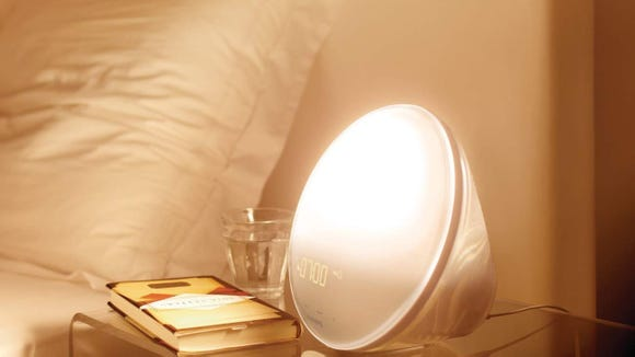 Start your morning off right with the Philips Wake-Up Alarm.