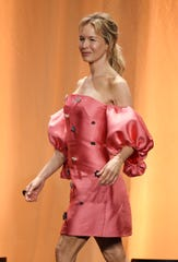 Actress Renee Zellweger arrives onstage at the 2019 Hollywood Foreign Press Association's Annual Grants Banquet at the Beverly Wilshire Hotel, Wednesday, July 31, 2019, in Beverly Hills, Calif. (Photo by Chris Pizzello/Invision/AP)