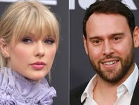 """As one feud ended, another began as Taylor found herself at odds with Scooter Braun. The music executive, who has worked with artists like Justin Bieber and Ariana Grande, bought Big Machine Label Group, which means he now controls what happens with Taylor's first six albums of her career. In response, the singer posted a scathing post about being """"grossed out"""" by Braun's acquisition and accused him of bullying. But what that means for Taylor's masters remains to be seen."""