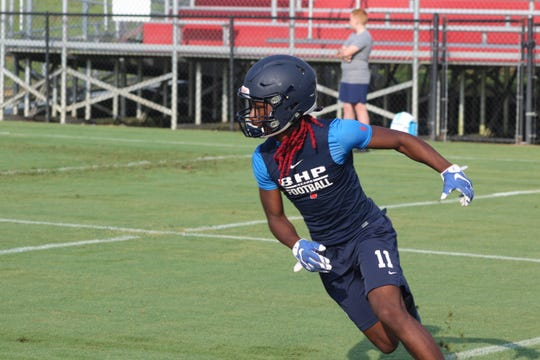 Senior Demetrius Byrd has emerged as the leader for the BHP wide receivers.