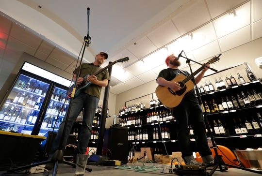 Walt Hamburger and the Taste Buddies perform at Mondo! Wine Bar & Retail in Appleton during Mile of Music in 2019.