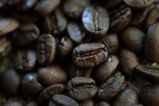 Coffee beans at the Copper Rock Coffee Co.