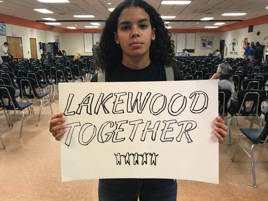 Roselyn Rojas, 15, led a group of students who oppose their principal's transfer to a new school in Lakewood.