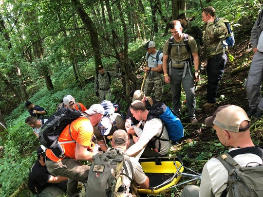 Search and rescue workers from multiple agencies located Kevin Lynch, a New Jersey man who suffers from significant dementia, July 31. He was missing in Great Smoky Mountains National Park for five days.