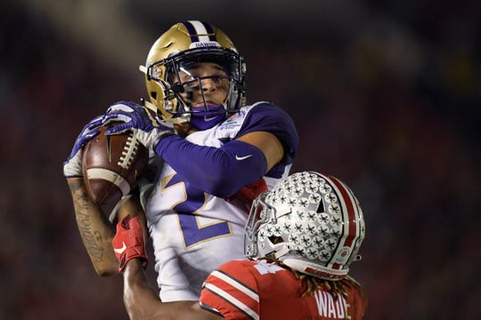 Washington's Aaron Fuller is the team's leading returning receiver. He amassed 874 yards and four touchdowns last season.