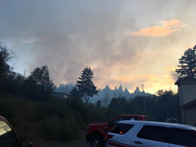 A fire that erupted in Union on Thursday was contained by Friday. A strike team from Kitsap County that included members from Poulsbo Fire, North Kitsap Fire and Rescue, Bremerton Fire, Central Kitsap Fire and Rescue and South Kitsap Fire and Rescue responded.