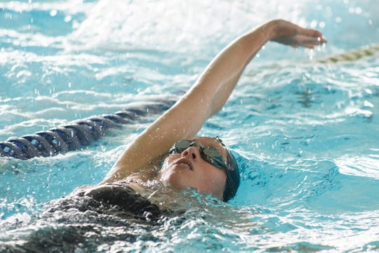 Ella Miller, swimmer for The Edge swim team, practices at The Edge swimming pool on Wednesday afternoon July 24, 2019 in Williston, Vermont.