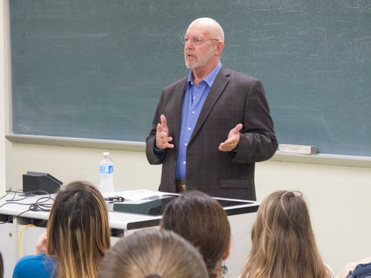 Edward Martin, 76, speaks to students. He retired as the President/CEO of Bay Ltd. on Aug. 1. after leading the company for 21 years.