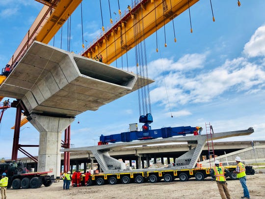 Bay Ltd. was awarded a job to haul 2,648 bridge segments and 88 large delta frames to the Harbor Bridge Project site.