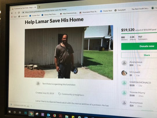 Lamar Harris of Gloucester Township can stay in his home, thanks to the kindness of his neighbors and church community, who raised more than $50,000 to pay back taxes.