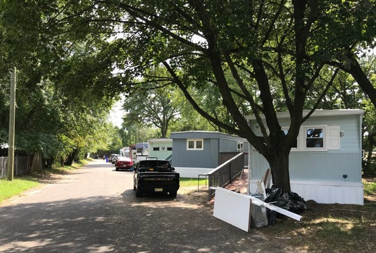 Police say Christine Madiraca was found slain Wednesday in a home on Bobwood Avenue in the Crescent Mobile Home Park in Gloucester City.