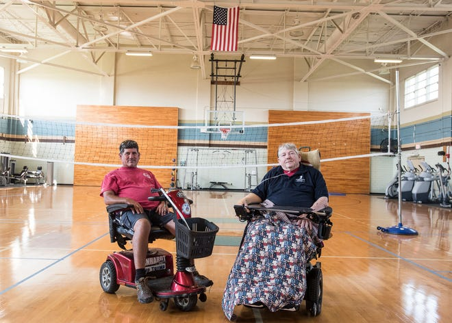 Keith Dunseith, left, and Artie Sias were two of five local veterans that competed in the National Veteran Wheelchair Games through the Chillicothe VA Medical Center earlier in July.