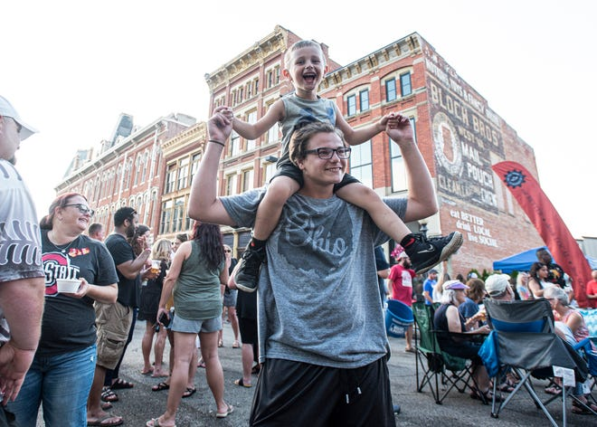 The Taste of Chillicothe was held in front of the Majestic Theatre on 2nd St. on August 1, 2019, with the band Ben True and the Basement Collective entertaining the large downtown crowd. The event, which included several food vendors and live music, was part of the First Thursday's events sponsored by the First Capital Rotary Club.