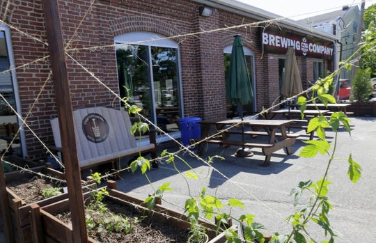 The beer garden at Czig Meister Brewing Company.