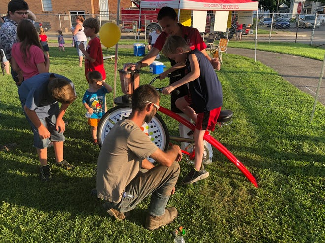 The blender bike was available at the recent Party in the Park. It was a nutritionally and educational exercise for attendees. The bike will also be available at this year's fair.