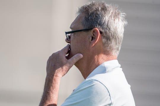 Sideline observer Larry Kehres, Matt Campbell's famed college coach at Mount Union