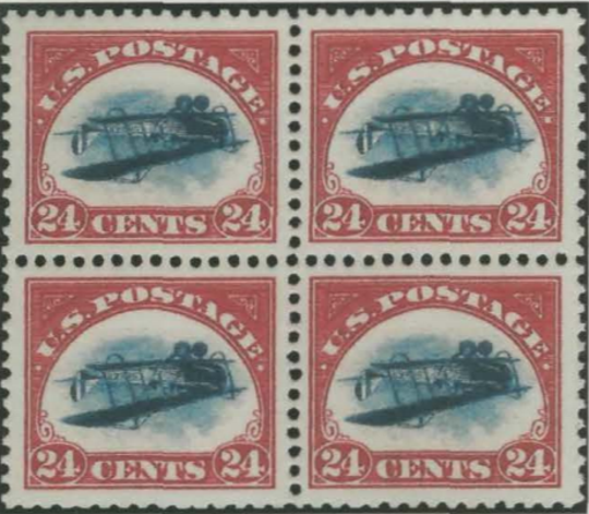 """An example of the kind of rare and valuable """"Inverted Jenny"""" stamp that the Iowa Aviation Museum hoped it had found."""