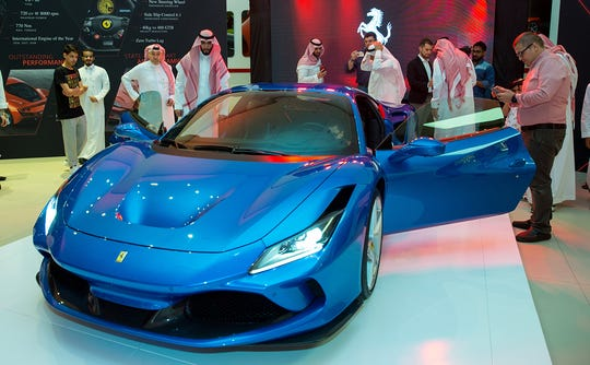 Following its global launch at Geneva Motor Show, the Ferrari F8 Tributo is unveiled in Jeddah, Saudi Arabia.