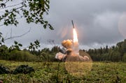 A Russian Iskander-K missile launched during a military exercise in 2017 at a training ground at the Luzhsky Range, near St. Petersburg, Russia. A landmark arms control treaty that President Ronald Reagan and Soviet leader Mikhail Gorbachev signed three decades ago is dead. The U.S. and Russia both walked away from the deal on Friday, Aug. 2, 2019.