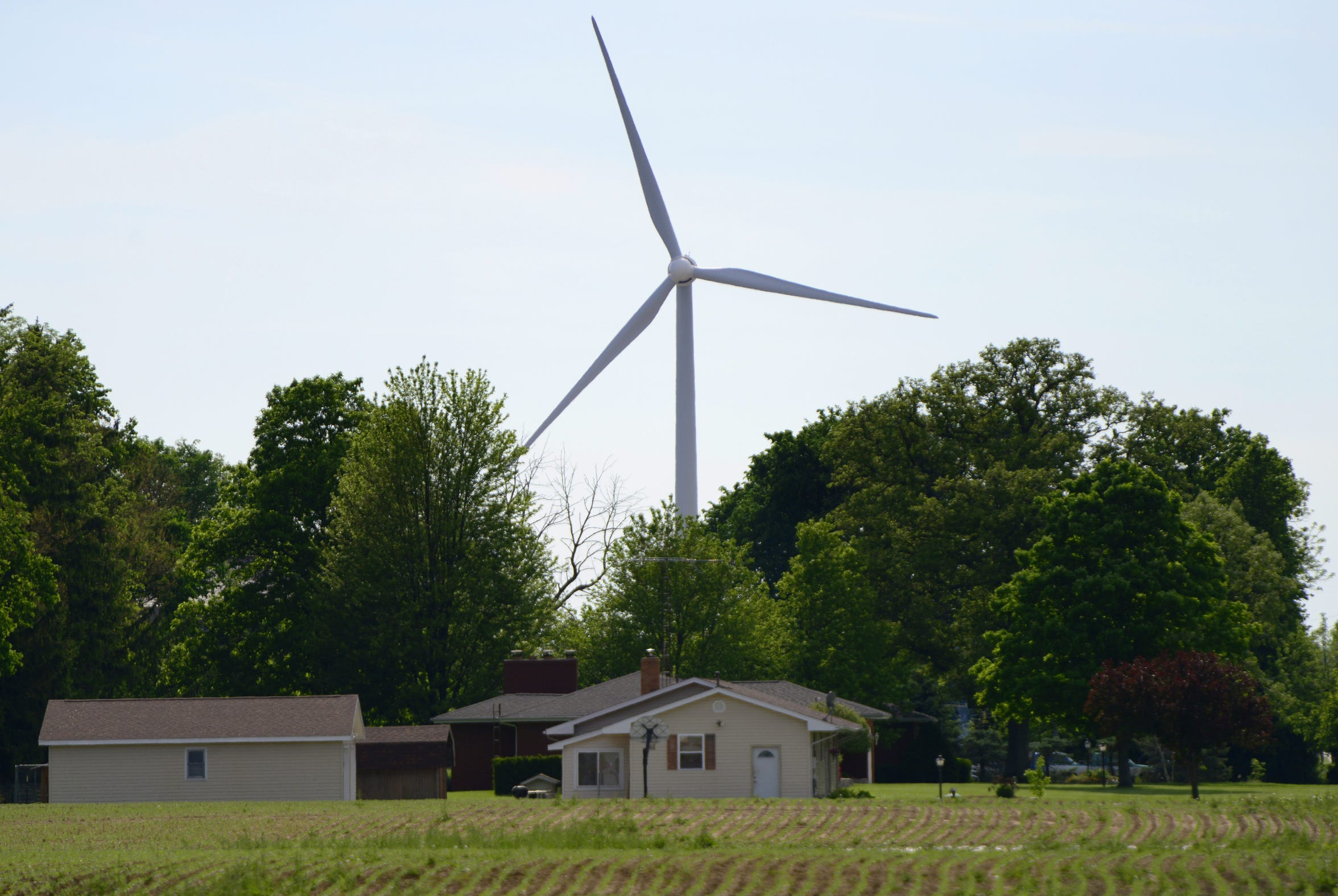 Wind turbines in Findlay. APEX Clean Energy is planning to build up to 47 wind turbines in Sandusky and Seneca counties.