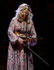 Grammy-winning bluegrass artist Alison Krauss performs ahead of Willie Nelson on Aug. 1, 2019 at the Resch Center in Ashwaubenon, Wis.