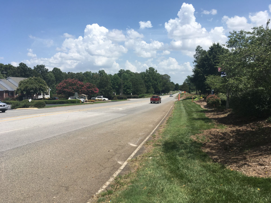 A photo dated June 28, 2019, shows clearing is underway for a project to widen Batesville Road in Greenville County.