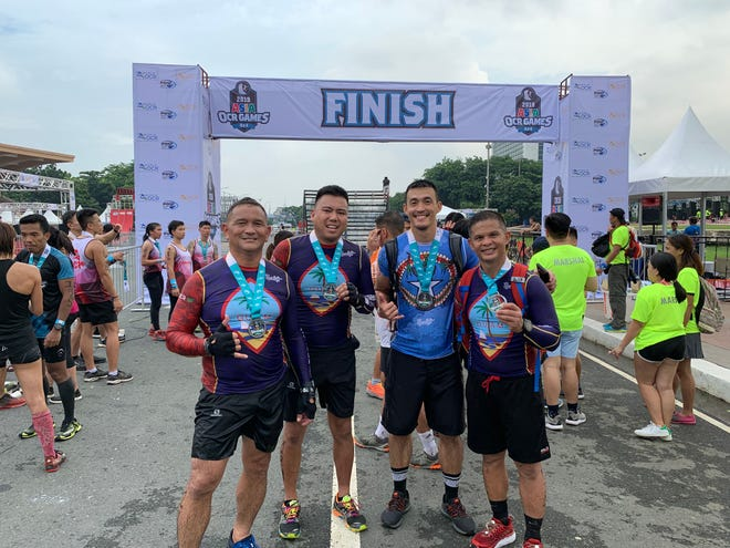 A foursome of obstacle course race enthusiasts represented Guam and Saipan at the 2nd Asian OCR Championships held July 26-30 in Manila. They are, from left: Jeffrey Rios, Tom Akigami, James Lee and James Sardea.
