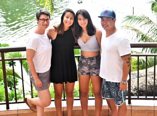 The Jose family spent a week on Guam in June 2019. They are, from left, mom Aimee, Lily Jose, 17, Beanie Jose, 14 and Mel Jose.