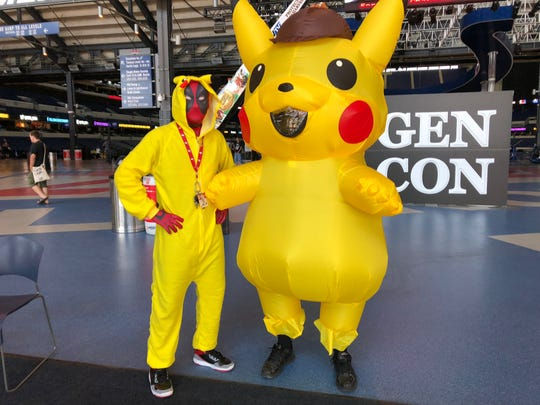 While we saw many Pikachu costumes at Gen Con 2019, these were two of the more unique variations.