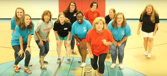 "Arlington Elementary challenged other schools in the Jackson-Madison County School System to ""Git Up"" in a viral challenge."