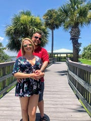 Brent and Ashley Walker on vacation in Florida in July 2019. The couple have been drug-free for two years and eight months.