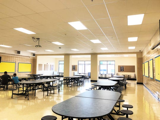 Extra square feet has been added to the cafeteria to accommodate the Inskip Elementary School's growing population.