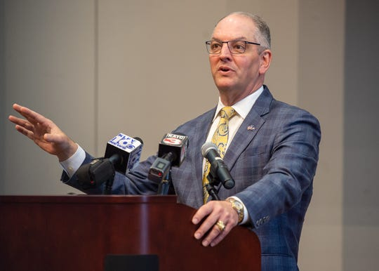Gov. John Bel Edwards is given tour of the South Louisiana Community College Campus by Chancellor Natalie Harder. Friday, Aug. 2, 2019.