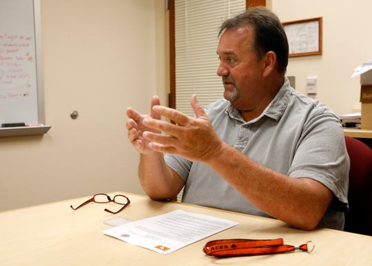 Amanda-Clearcreek Superintendent J.B. Dick, shown in this Eagle-Gazette file photo, is one of several local superintendents who said they are not surprised by Gov. Mike DeWine's decision to close Ohio schools for the rest of the year because of the coronavirus pandemic.