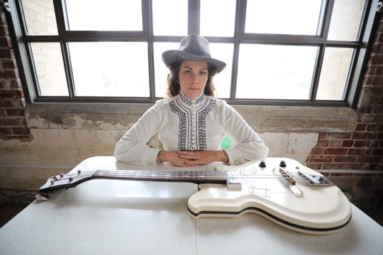 """Amy LaVere will celebrate the release of her new album, """"Painting Blue,"""" at the Crosstown Theater on Friday."""