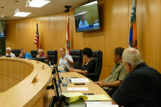 The Marco Island Planning Board approved Friday code amendment recommendations regulating the parking and storage of trailers and recreational vehicles. From left to right: Mike Finkle, David Vergo, Ed Issler, Ron Goldstein, Claire Babrowski, Jason Bailey and Joe Rola.
