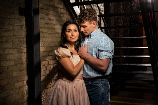 "Liesl Collazo and Jeffrey Kringer star in Milwaukee Repertory Theater's production of ""West Side Story."""