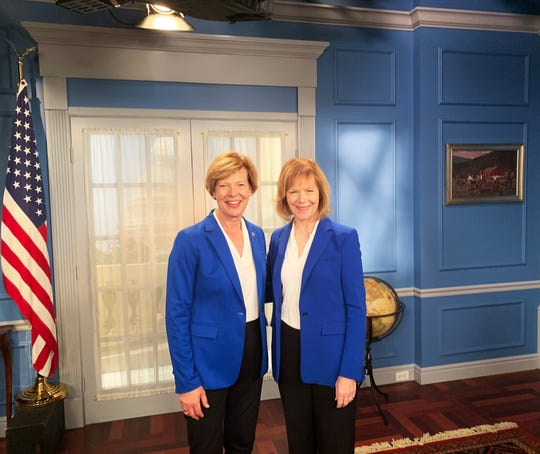 Senators Tammy Baldwin and Tina Smith set the record straight: They're not the same person