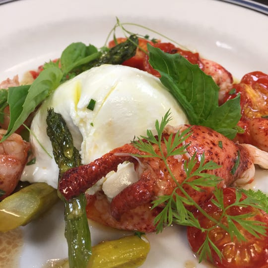Lobster, Burrata, Asparagus & Tomato was on the menu last year for Harbor House's annual Lobster Palooza.