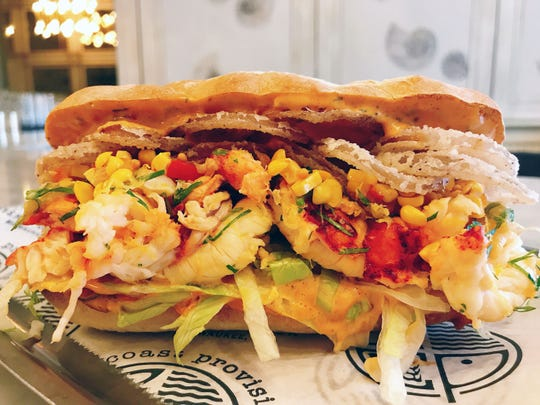 The Lobster Po'Boy at Third Coast Provisions is packed with flavor.