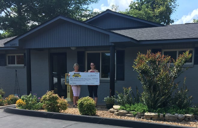 Thanks to the Bull Shoals Lake/White River Chamber of Commerce and the Eastwold Family for their continued support to bring fireworks to the Bull Shoals Lake Area on the Fourth of July.Janis Snider of Beaman Realty is shown presenting a check to Stacey Foster from the Bull Shoals Lake/White River Chamber of Commerce for $2,747.87. Volunteers this year were: Wade Fox, Wil Altazan, Dianna Marquis, Earl andKaren Garrison,Gary andDanette Stubenfoll, Tim Pavlich, Ryan Branaman and Stacey Foster, whohelped collectfor fireworks just before dark on AR Highway 178 in Lakeview and Bull Shoals. Beaman Realty has been collecting for the event for over 30 years.
