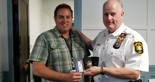 Detective Lieutenant Philip DiGavero, left, with Sheriff Gannon.
