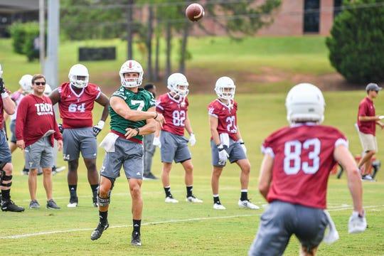 Troy quarterback Kaleb Barker