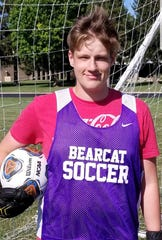 Muncie Central goalkeeper Chase Beck