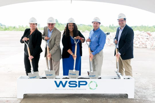 Democratic mayoral candidate Terry Whitt Bailey attends the groundbreaking event for the Waelz Sustainable Products plant.