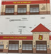 The Take 5 Oil Change application to the Metropolitan Board of Zoning Appeals included an image of the proposed facility.