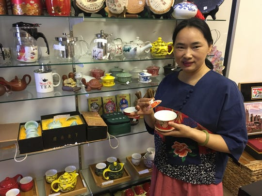Jenny Zhong opened Music City Tea six years ago in Franklin and recently moved the shop to the Public Square in Murfreesboro.
