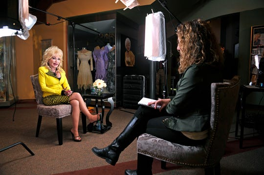 Cindy Watts interviews Dolly Parton at Parton's Dollywood in Pigeon Forge, Tenn.