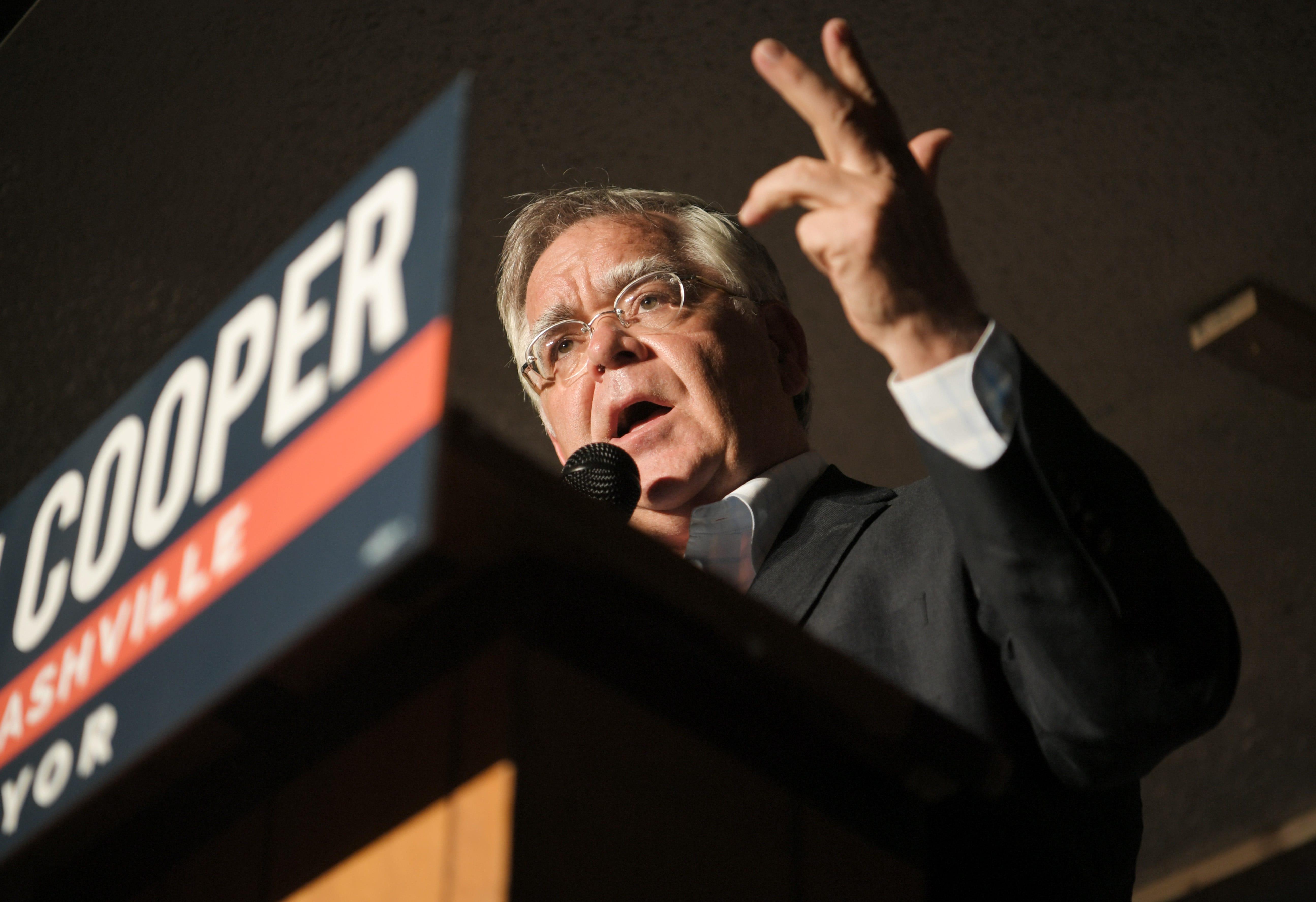Nashville mayor election: Cooper holds sizable lead over