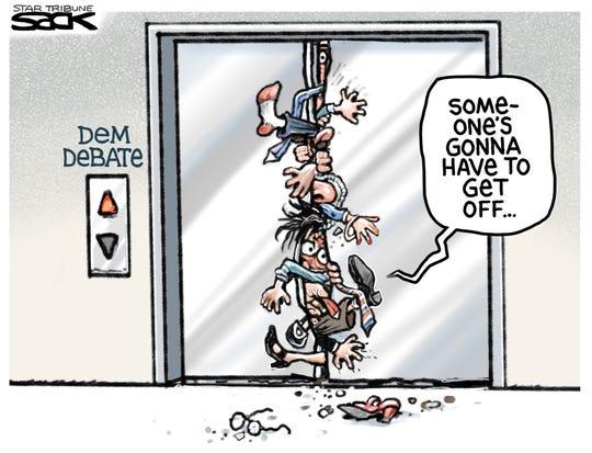 Democrats' crowded elevator.